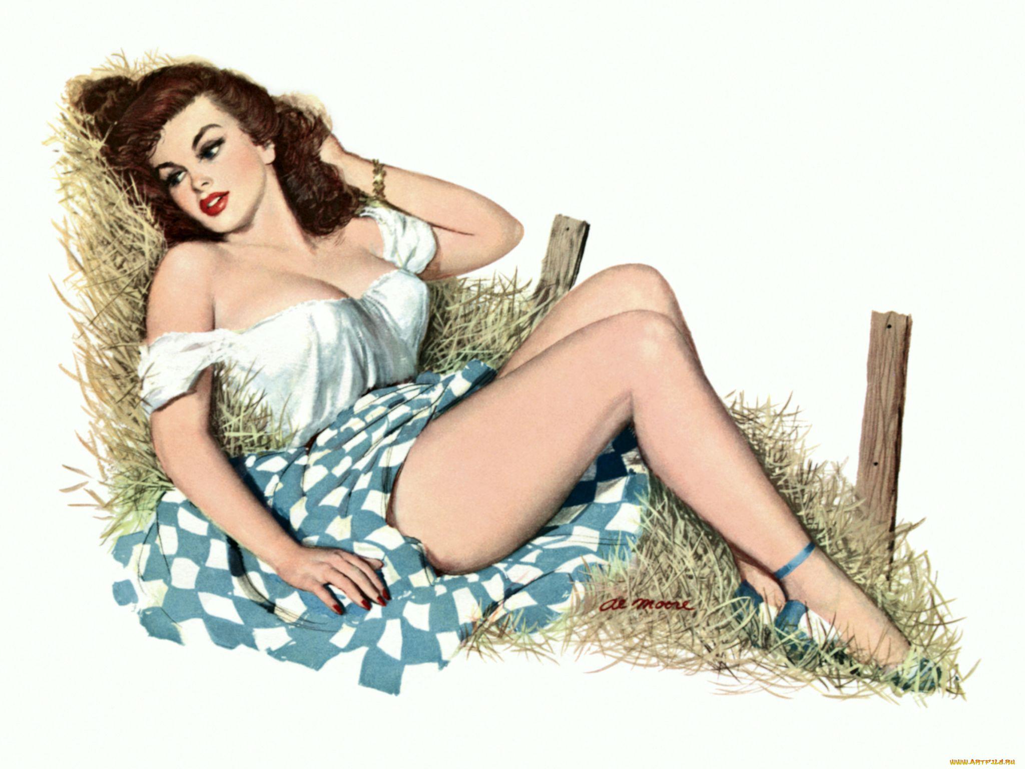 Рисованные картинки пышных дам